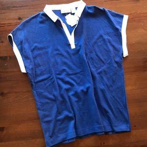 Vtg Cap Sleeve Polo Style Shirt